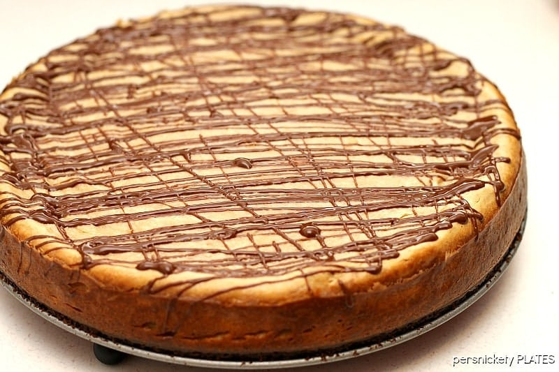 Brownie Bottom Peanut Butter Cheesecake | Persnickety Plates