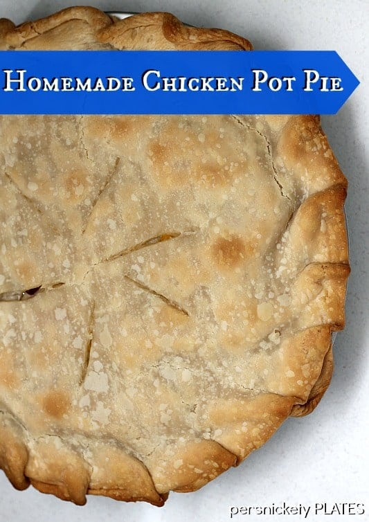 Homemade (but easy!) Chicken Pot Pie is my idea of comfort food! It would also work beautifully if you had turkey leftovers to use up!   www.persnicketyplates.com