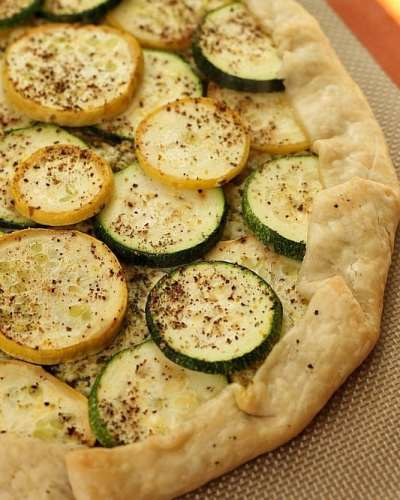 Zucchini and Squash Galette | Persnickety Plates