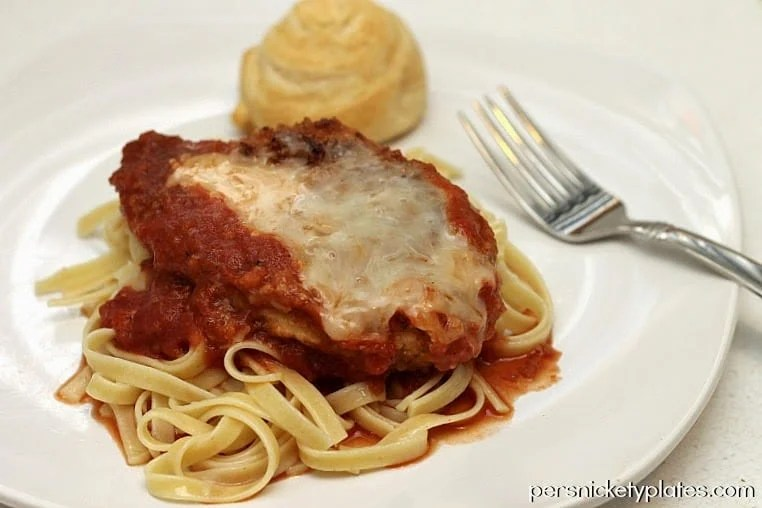 Persnickety Plates: Mozzarella Chicken with Fettucine