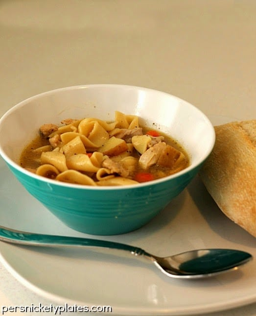 Quick & Easy Chicken Noodle Soup   Persnickety Plates