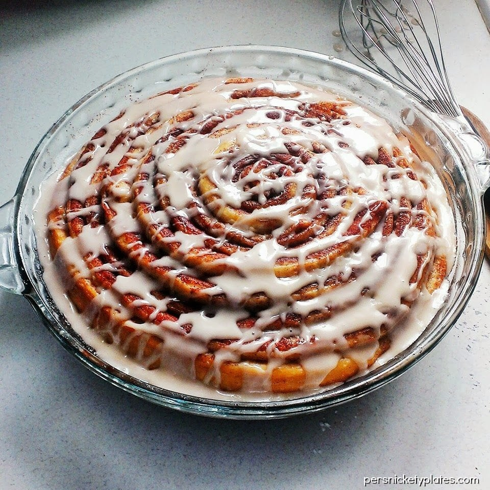 Giant Cinnamon Roll Cake | Persnickety Plates