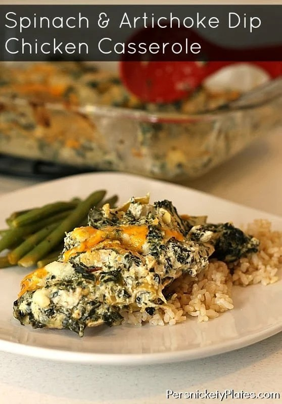 Spinach and Artichoke Dip Chicken Casserole