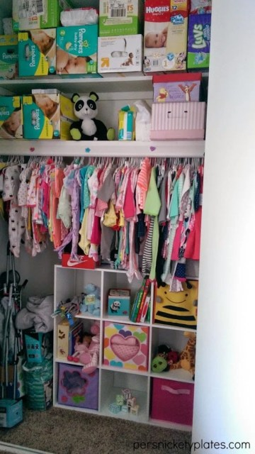 Baby Girl Room Reveal | Closet Organization | Persnickety Plates