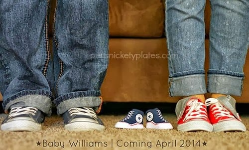Persnickety Plates: Pregnancy Announcement