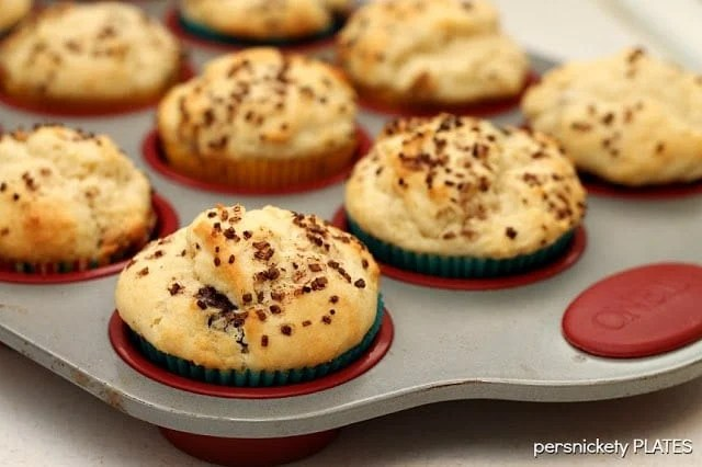 Chocolate Chip Cream Cheese Muffins | Persnickety Plates