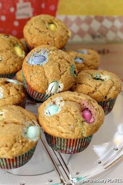 Peanut Butter M&M Muffins
