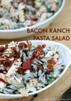 Bacon Ranch Pasta Salad is a simple but flavorful dish that is perfect for summertime entertaining.