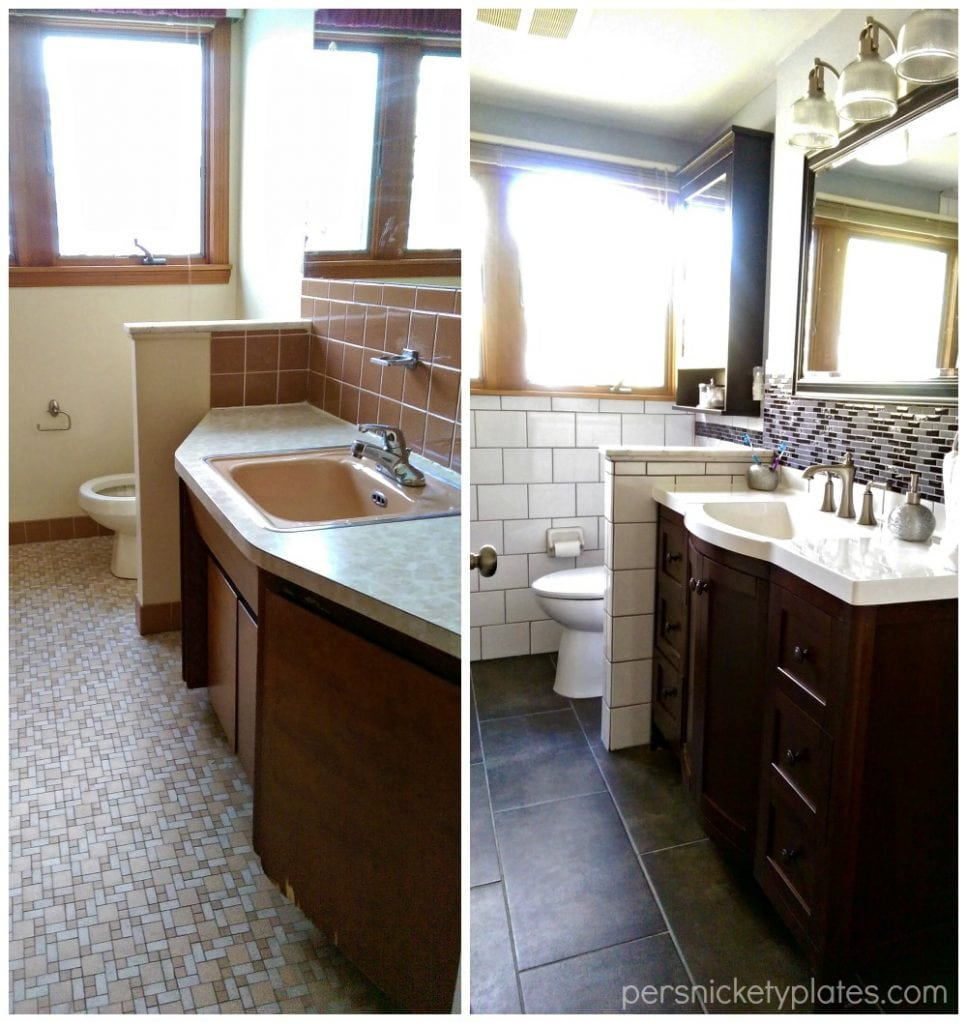Bathroom Vanity Before & After | Persnickety Plates