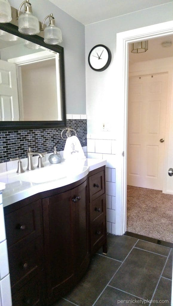 Bathroom Vanity & Floor Tile | Persnickety Plates
