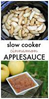 Super simple Cinnamon Applesauce made in the slow cooker! | Persnickety Plates