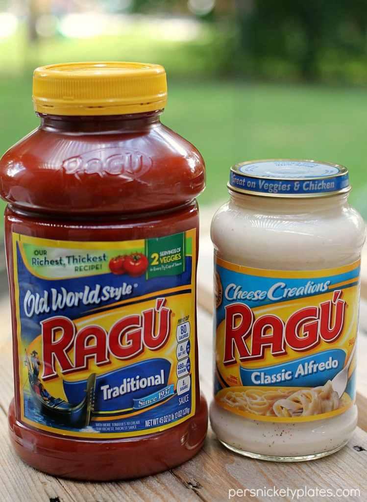 jars of ragu traditional & alfredo sauce