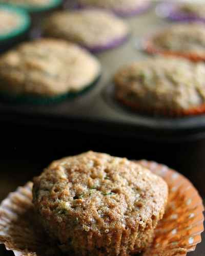Apple Cinnamon Zucchini Muffins - a muffin with fruit and vegetables so you don't have to feel guilty about eating 3. | Persnickety Plates
