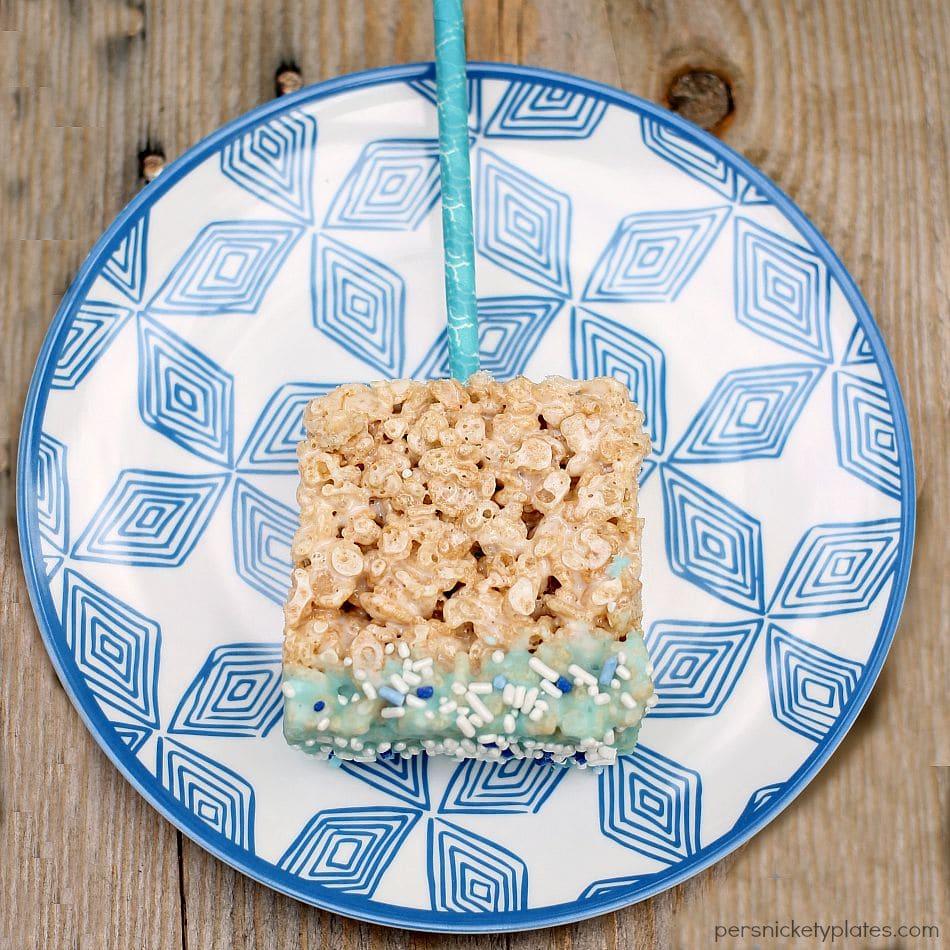 Baby Shower Rice Krispie Treat Pops | Persnickety Plates