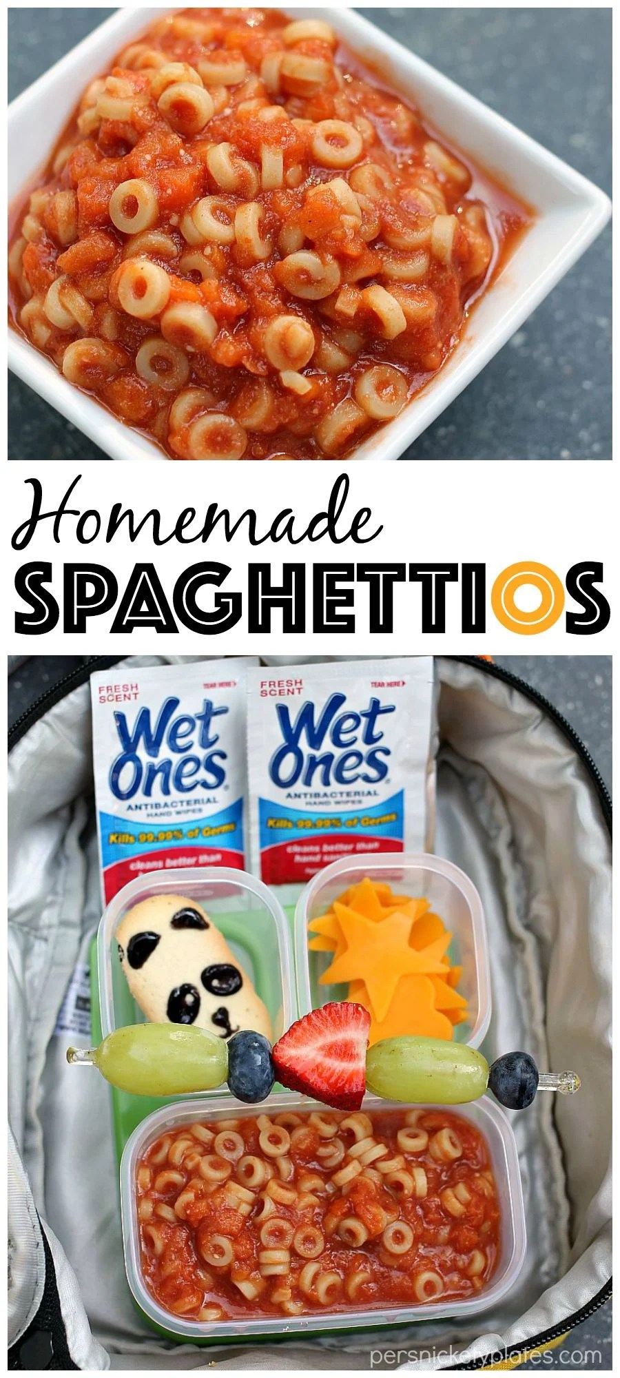 Homemade Spaghettios & Lunchbox Ideas for back to school | Persnickety Plates via @pplates