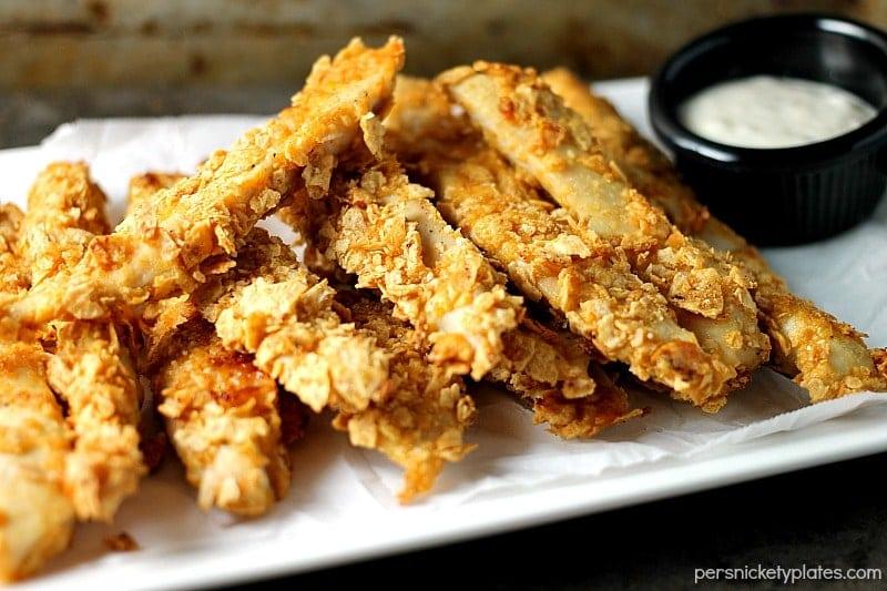 Gluten free Crispy Baked BBQ Chicken Strips