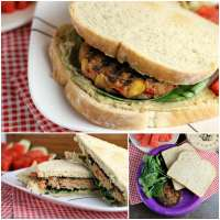 Vegetarians can enjoy barbecues, too! This Veggie Burger with Spinach and Hummus is the perfect alternative to traditional hamburgers for your next BBQ.   Persnickety Plates