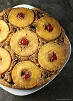 Pineapple Upside Down Cake is a classic dessert that's pretty, delicious, and easy when you use a cake mix!   Persnickety Plates