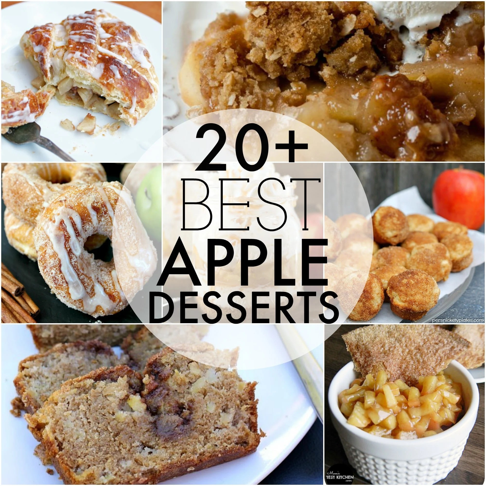 Over 20 of the BEST apple desserts to kick off the upcoming fall season!   Persnickety Plates