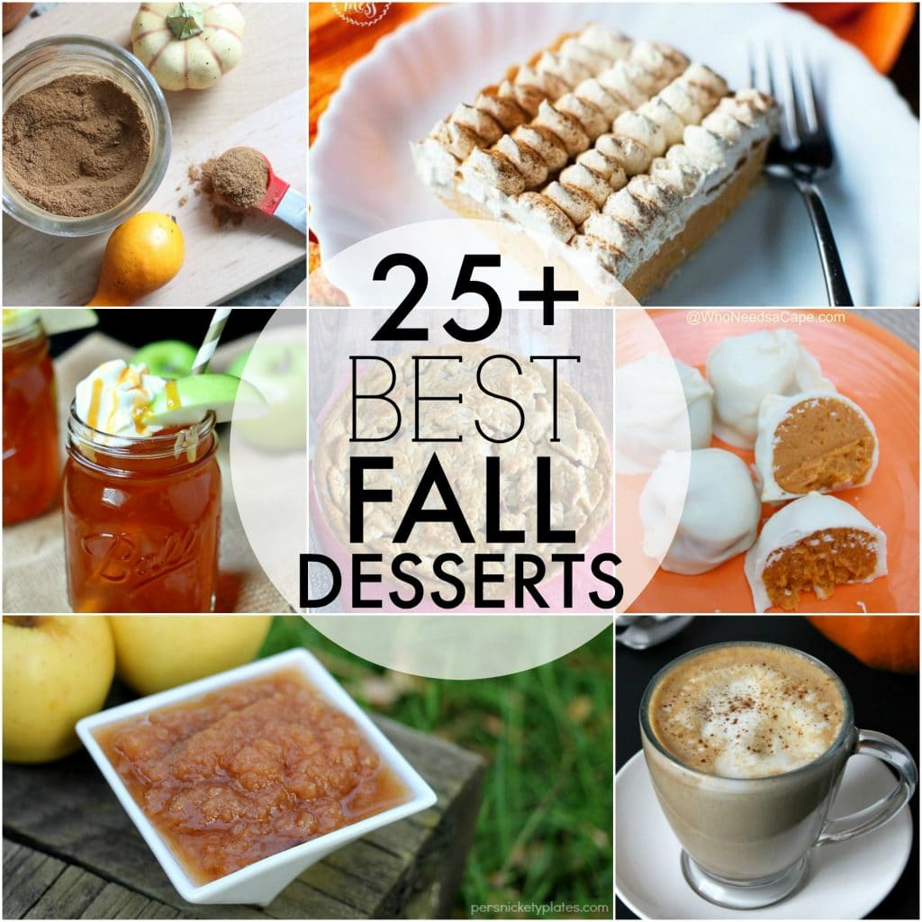 Over 25 of the BEST fall desserts perfect to kick up the fast approaching fall season! Cakes, pies, cookies, drinks - something for everyone!