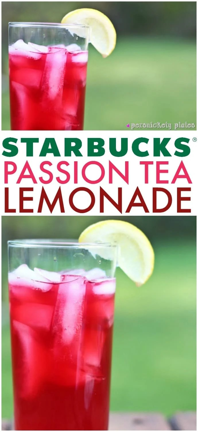 Copycat Starbucks Passion Tea Lemonade - a super simple recipe to make your favorite Starbucks drink right at home! | www.persnicketyplates.com via @pplates
