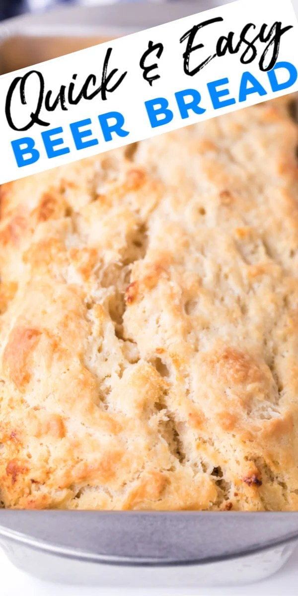 With only six ingredients and four steps, this beer bread recipe is super easy! No yeast needed and you can whip it up in about five minutes! | www.persnicketyplates.com