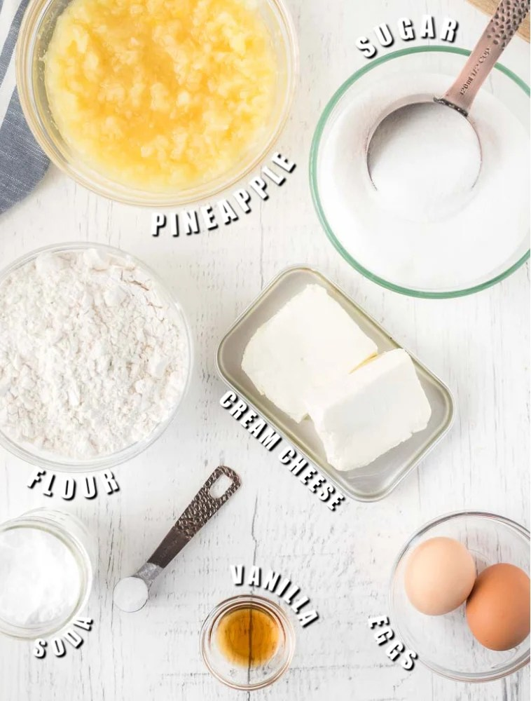 overhead shot of ingredients for mexican wedding cake