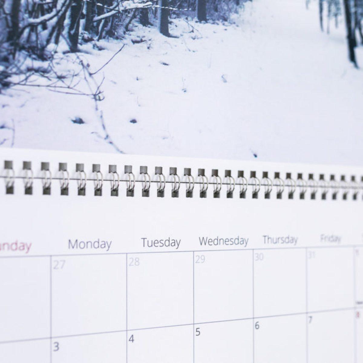 holiday photo calendars
