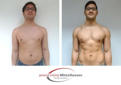 Muskel aufbauen – Ergebnis von Sebastian S
