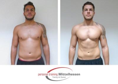 Körperfett reduzieren: Ergebnis von Domenik W