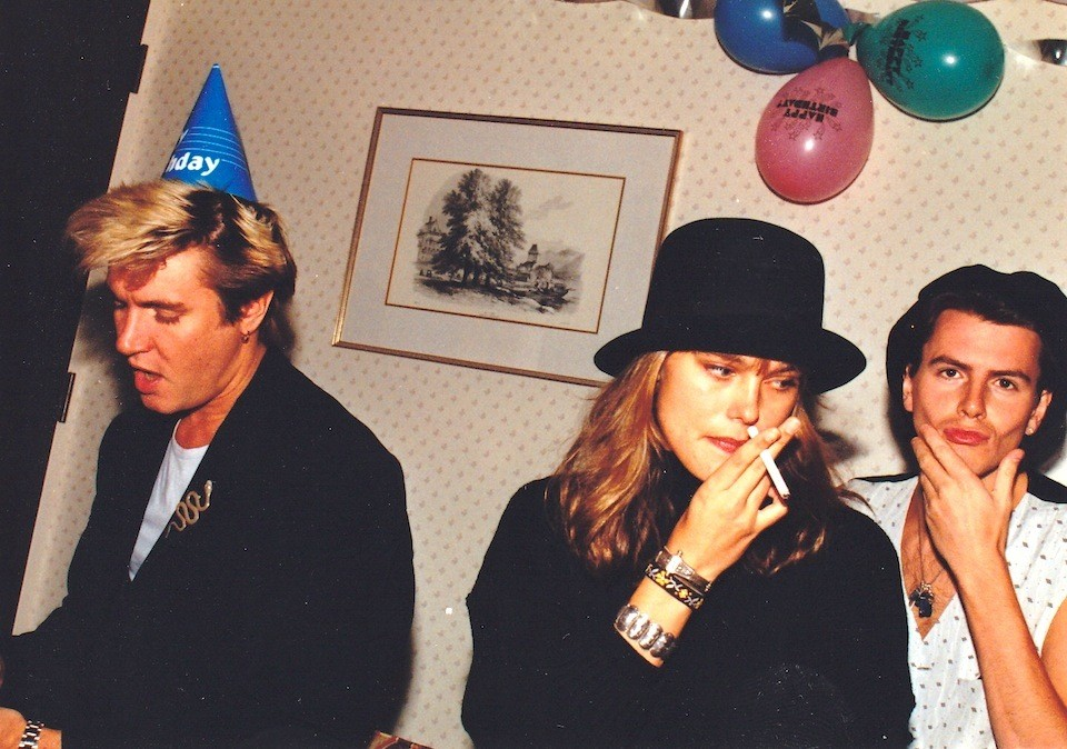 Simon LeBon, Renee Simonsen & John Taylor at Tatjana's first birthday party