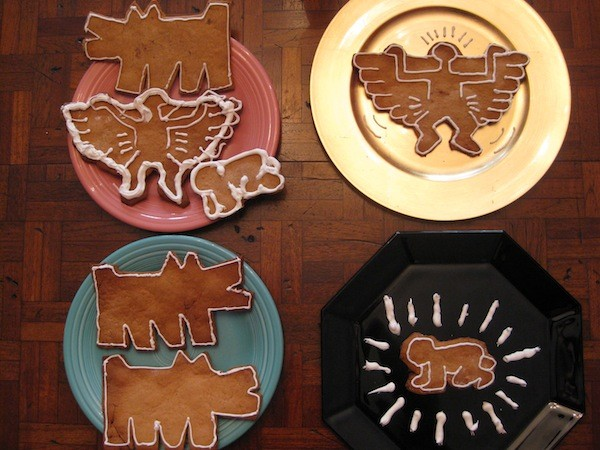 Keith Haring Gingerbread Art