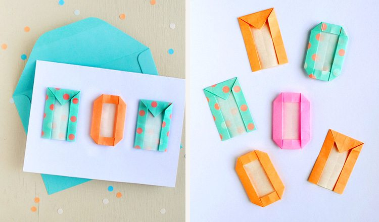mother's day card made with origami letters