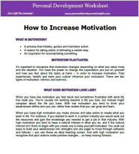 how to increase motivation