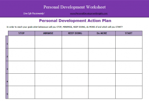 Personal Development Action Plan