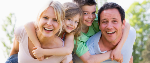 A happy family used to illustrate the Whiplash claims article