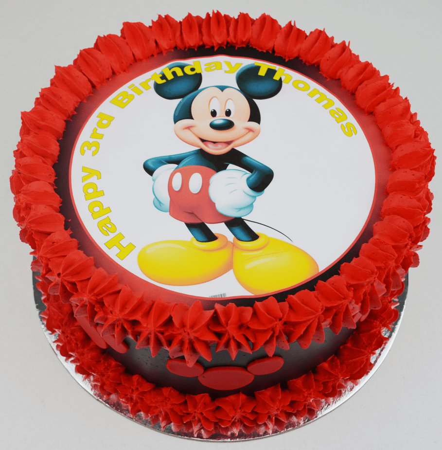 Mickey Mouse Birthday Cake Edible Image Kids Cakes Childrens Sydney