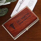 Personalized Doctor Business Card Cases - Medical Specialties - 10402