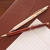 Engraved Wooden Executive Pen - 1652