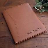 Personalized Executive Leather Portfolio - Tan - 2448