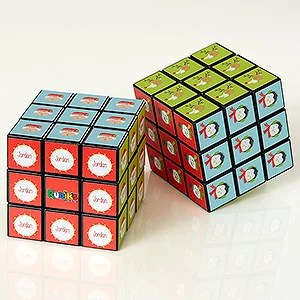 Personalized Rubiks Cube Christmas Characters