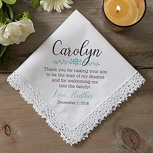 Personalized Wedding Handkerchief Mother Of The Groom