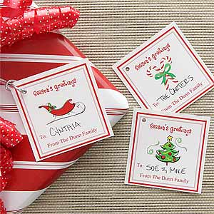 Personalized Christmas Gift Tags Seasons Greetings
