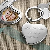 Personalized Photo Locket Key Ring - Mom's Heart Design - 3419