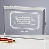 Engraved Inspirational Quotes Personalized Keepsake Gift - 5441