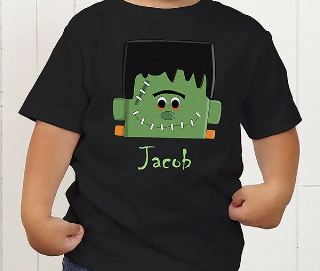 Personalized Halloween Shirts For Boys Frankenstein