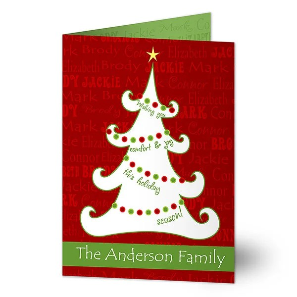 11968 Christmas Tree Personalized Christmas Cards