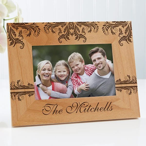 Personalized Family Picture Frames - Damask