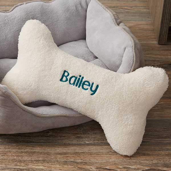 personalized dog bone pet pillow large