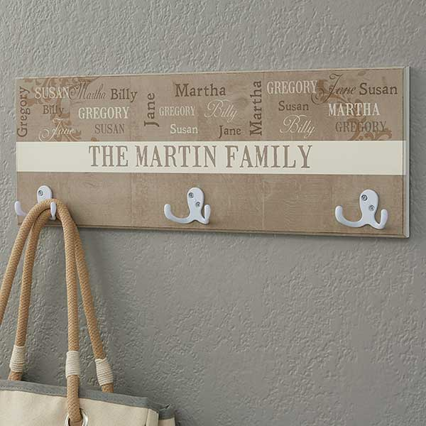 our loving family personalized coat rack